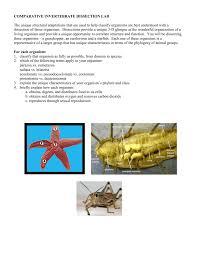 comparative invertebrate dissection lab