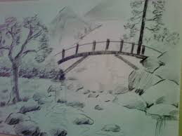 how to draw nature drawing pencil