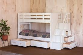 White Wooden Bunk Bed Bedroom Pink And White Solid Wood Bunk Bed For Girl Bedroom With