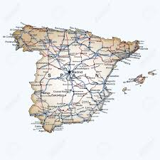 Spain Map World by Road Map Of Spain With The Main Cities And Towns Highways And
