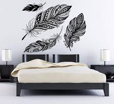 direct selling home decor selling dream catcher wall decal feather vinyl sticker art boho