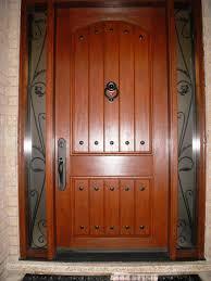 Custom Fiberglass Doors Exterior Fiberglass 8 Plank Door With Decorative Clavos And Custom Wrought