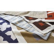Modern Flat Weave Rugs Talitha Peruvian Llama Flat Weave Navy Rug 8 X 10 Jonathan Adler