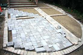 Installing A Patio With Pavers Installing Patio Pavers Awesome Installing Pavers Sipufo