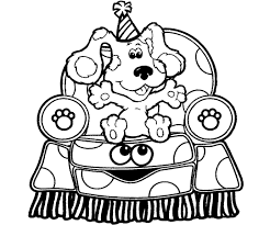 blues clues coloring pages paw print coloringstar