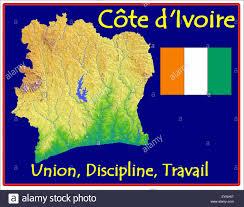 Ivory Coast Map Ivory Coast Motto Flag Map Stock Vector Art U0026 Illustration Vector