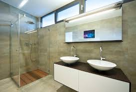 built in bathroom mirror 32 great ideas and pictures of plastic bathroom tiles