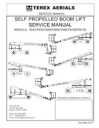 tb boom lift service manual