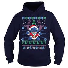 official stitch ugly christmas sweater hoodie sweater and