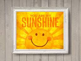 Orange Nursery Decor by Simple Kids Room With You Are My Sunshine Photo Print And Bright