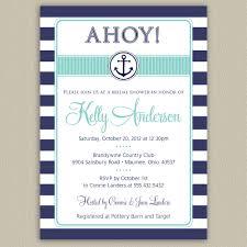 nautical bridal shower invitations nautical anchor printable bridal shower invitation with color