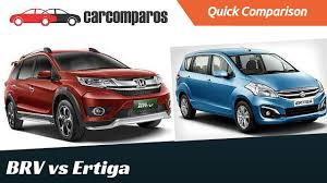 honda car comparison honda brv vs ertiga comparison review part 2