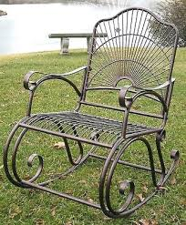 Metal Patio Rocking Chairs Cast Iron Rocking Chair Uk Rochester Rocking Patio Chair With