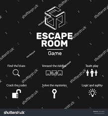 logo icons quest escape room game stock vector 588794843