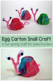 egg carton snail craft for kids where imagination grows