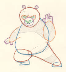 how to draw po kung fu panda drawing and digital painting