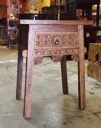 bali style coffee table beautifully hand carved reclaimed teak bali style side table from