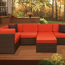 atlantic bellagio 5 person resin wicker patio sectional set