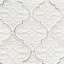 byzantine florid arabesque bianco ceramic tile arabesque tile