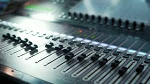 Mixing Table Mixing Console Display Showing The Duration Of The Song The