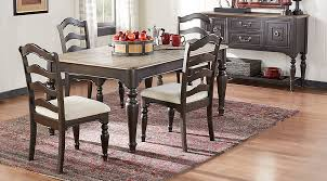 arbor ridge cherry 5 pc dining room dining room sets dark wood