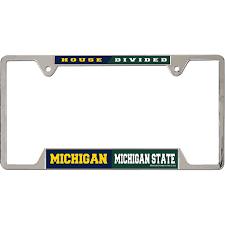 michigan state alumni license plate frame michigan state house divided license plate frame