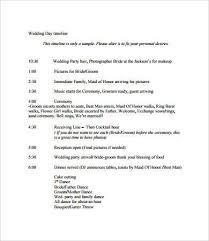 wedding day timeline 7 free pdf documents download free