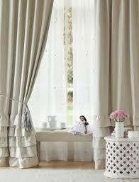 Pottery Barn Kids Window Treatments - evelyn linen blend bow valance blackout panel pbkids nursery