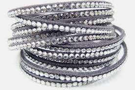 swarovski crystal leather bracelet images Chic vegan leather swarovski crystal wrap bracelet 12 color png