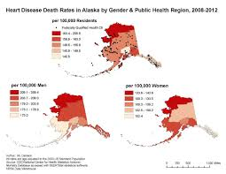 Alaska Population Map by Gis Exchange Map Details Heart Disease Death Rates By Gender