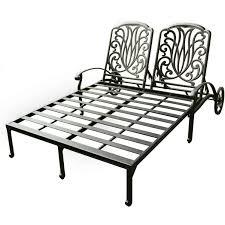 Cast Aluminum Lounge Chairs Darlee Elisabeth Cast Aluminum Patio Double Chaise Lounge