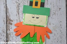 paper bag leprechaun kid craft