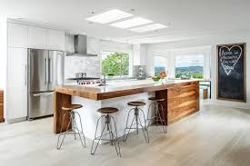 Contemporary Kitchen Backsplashes Overhang Butcher Block Kitchen Island Black Board Kitchen Decor