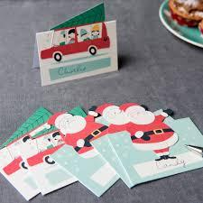 set of 6 festive family christmas place settings dotcomgiftshop