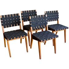 Set Of Four Dining Chairs Of Four Dining Chairs By Jens Risom At 1stdibs