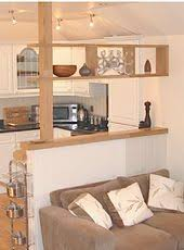 kitchen half wall ideas the half wall to divide the kitchen space but keep it looking