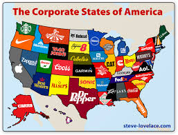 Great America Map by The Corporate States Of America Connected To Great American