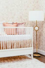 Pink And Gold Baby Bedding Pink And Gold Nursery Colors Contemporary Nursery
