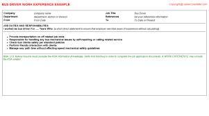Driver Job Description Resume by Bus Driver Job Title Docs