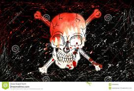halloween bones background pirate flag with skull stock illustration image 53928803