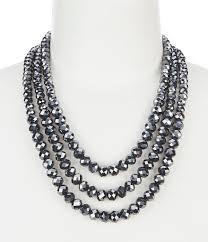 black bead collar necklace images Dillard 39 s three row faceted bead collar necklace dillard 39 s jpg