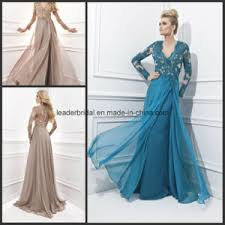 china long sleeve ladies party dresses a line prom women gowns
