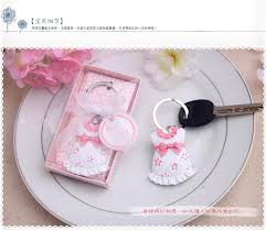 baby shower keychain favors free shipping wholesale baby boy baby girl keychain birthday party