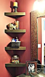 Corner Shelves Bathroom How To Build Corner Shelves For Bathroom Diy Cozy Home