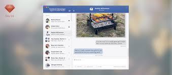 facebook messenger ui sketchapp tv the best free sketch