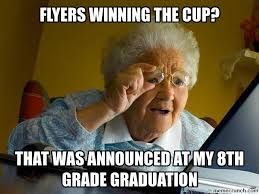 Flyers Meme - winning the cup