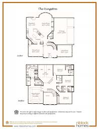 different floor plans kingston floor plan 2nd story master bed niblock homes nc