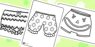 story colouring sheets to support teaching on pants pants