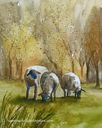 Sheep Home Decor Art Home Decor Animal Wall Art Painting Animal Painting Landscape