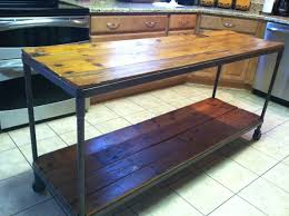 metal top kitchen island reclaimed wood metal kitchen island by abhudspeth on etsy for